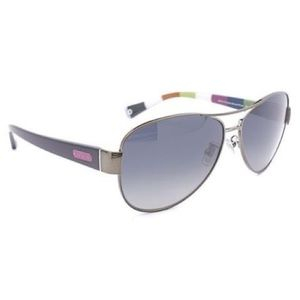 Coach Womens Kristina Polarized Aviator Sunglasses